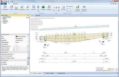 Screenshot des Berechnungsprogramms Leimholzbinder D10+