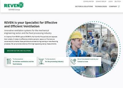 Screenshot eines Ausschnitts der Startseite der Firma Rentschler REVEN GmbH